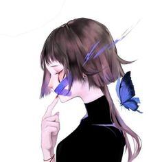close your mouth and don't say anything at all. 5 Anime, Kawaii Anime, Anime Art Girl, Manga Art, Aesthetic Art, Aesthetic Anime, Anime Butterfly, Anime Triste, Familia Anime