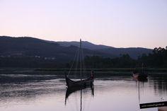 Barco vikingo en... Catoira, Pontevedra.