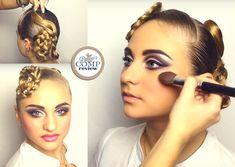 Introducing the Romantic Braided Standard look (Hair & MakeUp) for Ballroom Dancers.