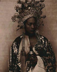 Headpiece. Golden. Tribal.