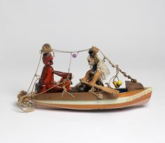 Sam Smith.  A second groom being rowed across the lake by his third bride, 1972-1973, mixed media.  Crafts Council Collection, W1.  Photo: Todd-White Art Photography.