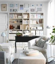 Office & Sitting Area with Library <3