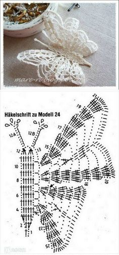 The best butterfly crochet pattern for your design Free Crochet Butterfly Patterns ⋆ Crochet Kingdom 77 With over 50 free crochet butterfly patterns to make you will never be bored again! Get your hooks out and let's crochet some butterflies! Filet Crochet, Crochet Motifs, Crochet Diagram, Crochet Stitches Patterns, Crochet Chart, Thread Crochet, Irish Crochet, Crochet Doilies, Crochet Flowers
