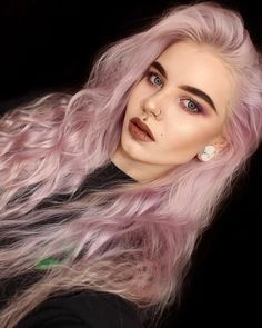 Loving this pretty pastel look on @_geheimnisvoll - try our Petal Pink + Smokey Mauve for a similar style! #lunartides #pinkhair #pinkhairdontcare