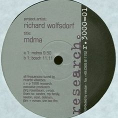 Richard Wolfsdorf - MDMA/ Bosch For Fans of Minimal- Techno Like the project to repress the vinyl record https://diggersfactory.com/project/97/mdma-bosch