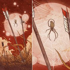 Orb Weaver - digital 2013 Prints available at http://ift.tt/2n54YQ8  #throwbackthursday  #throwbackart #mattverges #artistforhire #artistsofinstagram #artoftheday #art #spider #orbweaver #spiderweb #artprints