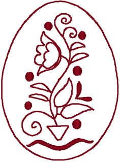 Czech Easter egg design, would be good for applique pattern.