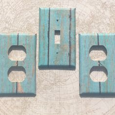Switchplate Outlet Cover beach Turquoise Wood by ArtZodiac on Etsy