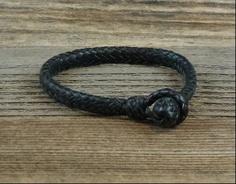 12 Strand Leather Braid Bracelet #HAF #HAFshop #handmade $75.00