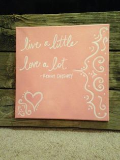 Country Song Lyrics on Canvas by theDogPawCo on Etsy, $22.00