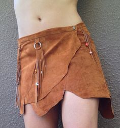 Native american skirt Abeque brown SUEDE  SKIRT by ScandaloAlSole, €99.00