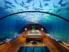 Une chambre d'hôtel aux Maldives