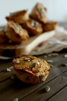 Carrot Cake Protein Muffins | This gluten free muffin recipe is perfect for breakfast or dessert!
