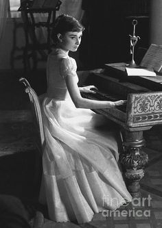 Audrey playing the piano...