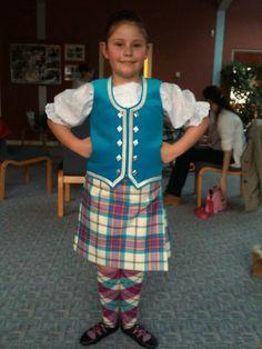 Dress Allendale blue.  Kilt outfit by Heather Fraser, hose with full diamond alternate marl by #BonnieTartan