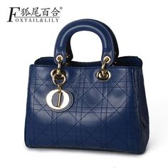59.90$  Buy now - http://alijny.worldwells.pw/go.php?t=32751318910 - Genuine Leather Famous Brand Handbag Cross body Women Luxury Brand Bag  Fashion Ladies Shoulder Bag High Quality 2016 59.90$