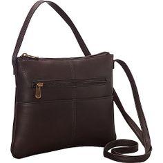 #Handbags, #LeDonneLeather, #LeatherHandbags - Le Donne Leather Three Slip Crossbody Café - Le Donne Leather Leather Handbags