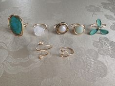 DIY wire and button rings
