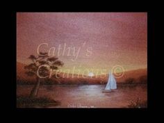 """This one is called """"Sailing off into the sunset"""" because my grandpa and I decided to pick this one for me to get acquainted with painting with oils when I was a teenager (many moons ago).  I still have it and it's original wooden frame that he made by hand himself.  It's 22"""" x 16"""" and I'm willing to sell it for $250.00; without the frame I'm willing to sell it for $175.00."""