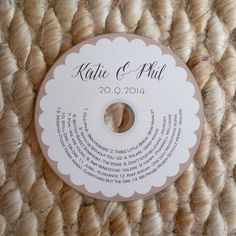 Custom Printed CD Labels wedding favors client by BrossieBelle, $1.15