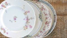 Mismatched Vintage Bread and Butter Plates by RosebudsOriginals