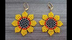 Seed Bead Patterns, Beaded Jewelry Patterns, Crochet Flower Tutorial, Diy Jewelry Inspiration, Beaded Brooch, Beaded Bags, Earring Tutorial, Seed Bead Jewelry, Bead Crochet