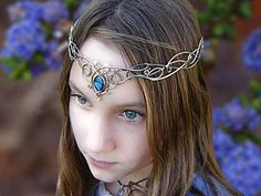 SilverMoon Bridal Circlet: Medieval Bridal Fashions, Circlets, Headpieces, Necklaces and Bracelets for your Renaissance, Celtic or Elven Wedding! Elvish, Circlet, Fantasy Jewelry, Tiaras And Crowns, Hair Jewelry, Jewellery, Hair Pieces, Jewelry Accessories, Jewelry Making