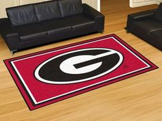 5x8 Area Rug - University of Georgia
