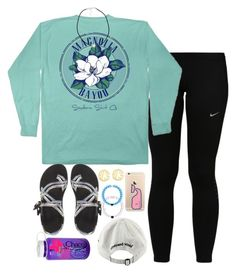"""i'm legit✌(not)"" by judebellar03 ❤ liked on Polyvore featuring NIKE, Chaco, QVC, Vineyard Vines, Nalgene, Southern Tide and NLY Accessories"