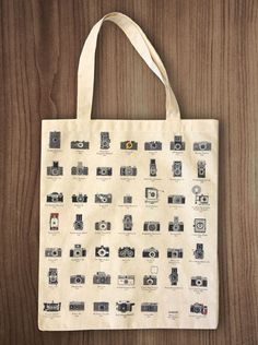 Pop Chart Lab --> Design + Data = Delight --> A Visual Compendium of Cameras Tote Bag Slow Fashion, Ethical Fashion, Canvas Shoulder Bag, Sister Gifts, Retail Therapy, Screen Printing, Great Gifts, Reusable Tote Bags, Chart
