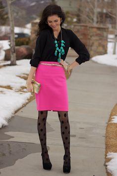 polka dot tights...so cute.