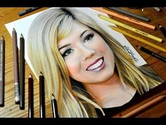 Drawing Jennette McCurdy - Colored Pencil Time-lapse Sketch by Heather Rooney on YouTube