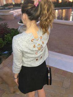 Lace Up Sweater + Scalloped Skirt  Kristine's Kaleidoscope