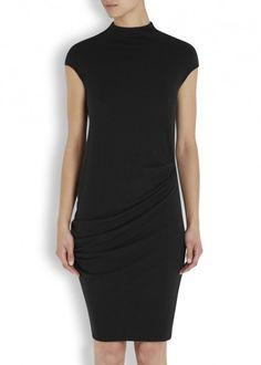 Black ruched jersey dress - Women