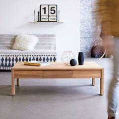 Table basse en bois de teck 120x80 Eden TIKAMOON