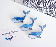 Tiffany, Technique Photo, Paper Packaging, Blue Whale, Glass Jewelry, Stained Glass, Handmade Jewelry, Sketches, Etsy