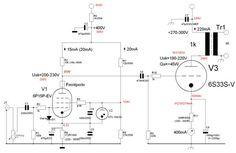 Schaltung Kanal A Valve Amplifier, Hi End, Audio, Vacuum Tube, Floor Plans, Circuits, Gardening, Construction, Electronics