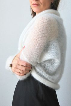 Wedding Dress Bolero, Bridal Bolero, Wrap Sweater, Long Sleeve Sweater, Wedding Sweater, Bridal Cover Up, How To Start Knitting, Maternity Wear, Bridal Dresses