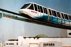 Monorrail en la Expo 92 Patio, Train, Sevilla, World's Fair, Sustainable Tourism, Train Tracks, Labyrinths, Paths, Parks