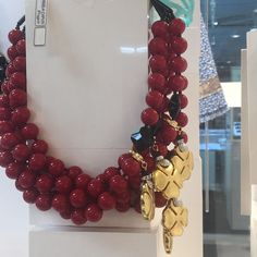 Angela Caputi Italy Multiple Strand Red Resin Bead Necklace With Clovers NWT | Jewelry & Watches, Fashion Jewelry, Necklaces & Pendants | eBay!