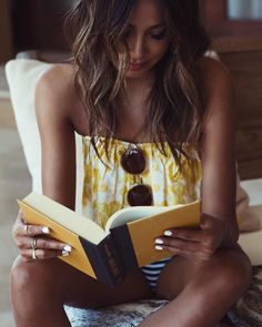 Nothing sexier than a woman reading books :)