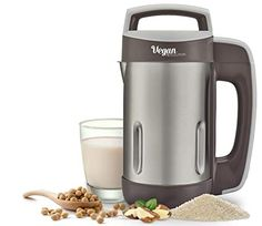 Vegan Milk Machine- Vegan Revolution make milk from grains seeds or nuts almonds soybean coconuts rice easy to use stainless steel blade #lowcountry #AmazonFinds Amazon Home Decor, Vegan Milk, Coconut Rice, Coconuts, Protein Shakes, Almonds, Quinoa, Revolution, Smoothies