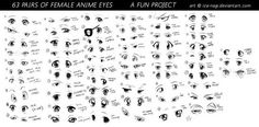 What a title. Can't get any more straight-forward than that. Anywho, it was fun working on this during the free time I got, and I must say, drawing anim. 63 PAIRS OF FEMALE ANIME EYES - A Fun Project Female Anime Eyes, How To Draw Anime Eyes, Manga Eyes, Female Cartoon, Cartoon Eyes, Nose Drawing, Drawing Base, Drawing Stuff, Drawing Ideas