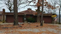 Spacious home with over 112 feet of river frontage. This home sits on a bluff above the river for spectacular views from the great room and deck. Kitchen extended/remodeled in 2000 including new cabinets, center island, appliances and flooring. Partial finished basement has a fireplace too. Septic tank replaced in 2014, HVAC new in 2010 in Cherokee Village AR