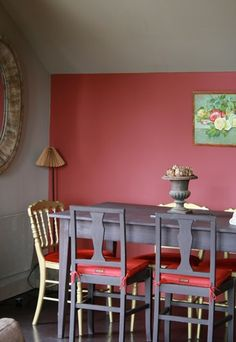 1000 images about red interior ideas on pinterest - Salle a manger noir et rouge ...