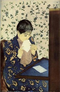 """The Letter"" by Mary Cassatt. Circa 1890."