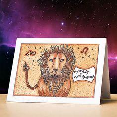 Leo birthday card leo star sign zodiac astrology birthday card leo stationery gift sun sign zodiac card for birthdays Pisces Star Sign, Gemini Star, Leo Star, Zodiac Star Signs, Pisces Birthday, Different Zodiac Signs, Funny Birthday Cards, Astrology, Birthdays