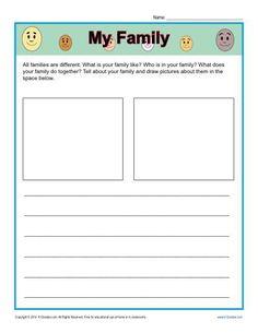 my family worksheet | Educational | Pinterest | Worksheets, Play ...