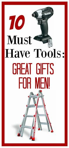 10 Must Have Tools-Great Gifts for Men – Fun-Squared #fathersday #giftidea