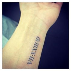 Image result for roman numerals tattoo on forearm